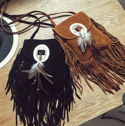 Feather Fringe Shoulder Bag