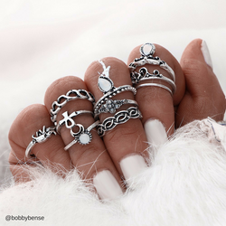 10pc/Set Bohemian Knuckle Rings