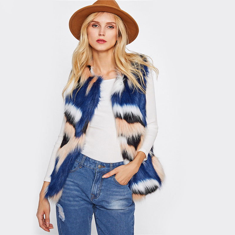 Multi Color Fur Vest