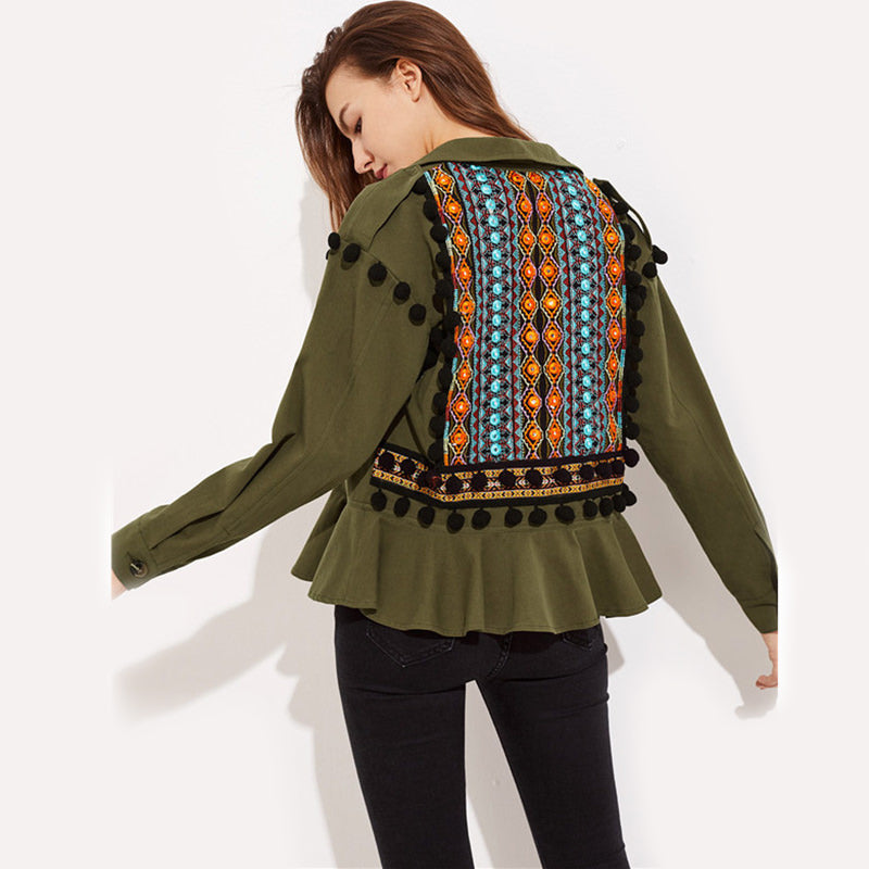 Embroidered Tassel Jacket