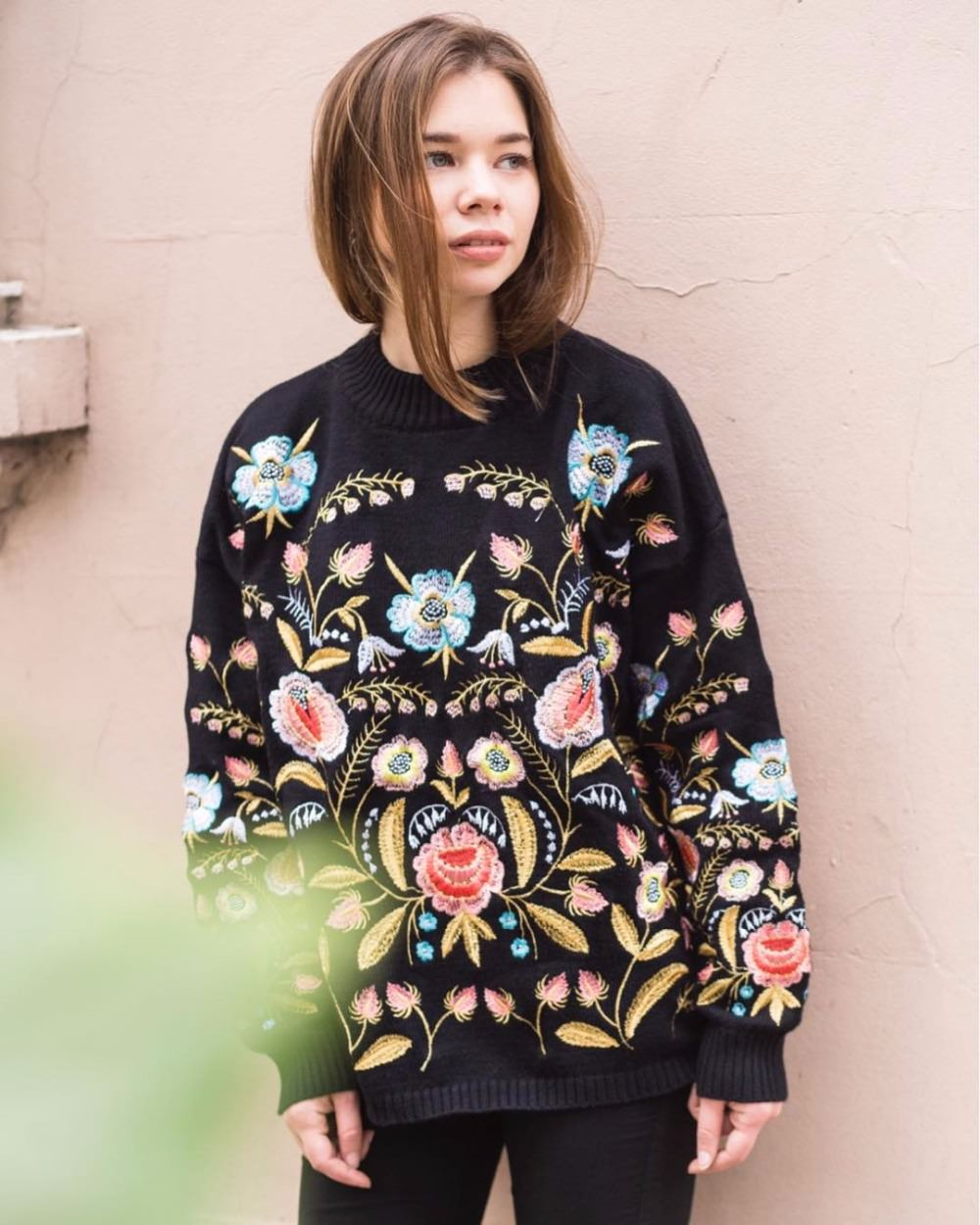 Floral Winter Sweater