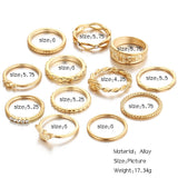 Golden Eagle Ring Set