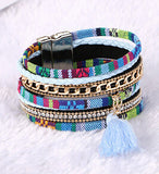 Magnetic Leather Boho Bracelets