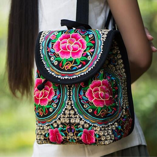 Oriental Embroidered Backpack