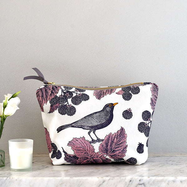 Blackbird & Bramble Large Cosmetic Bag