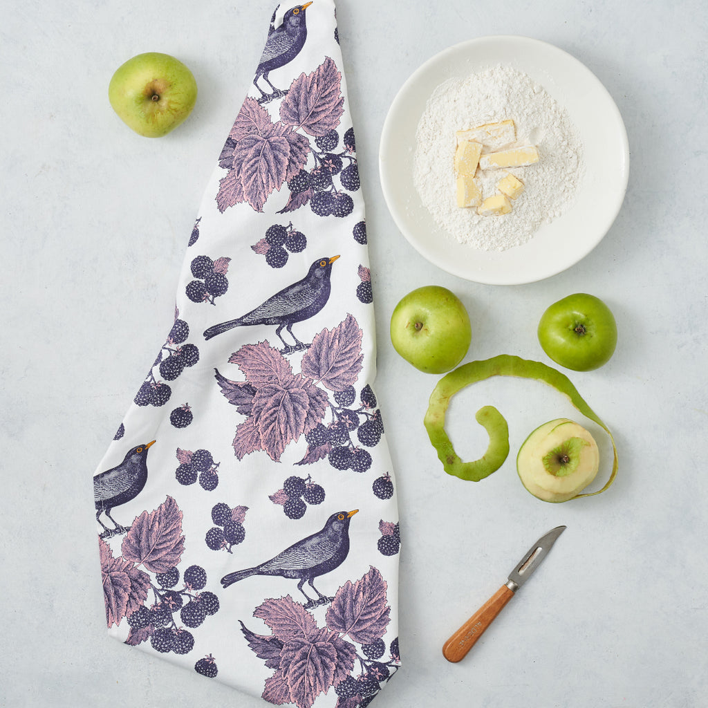 Blackbird & Bramble Tea Towel
