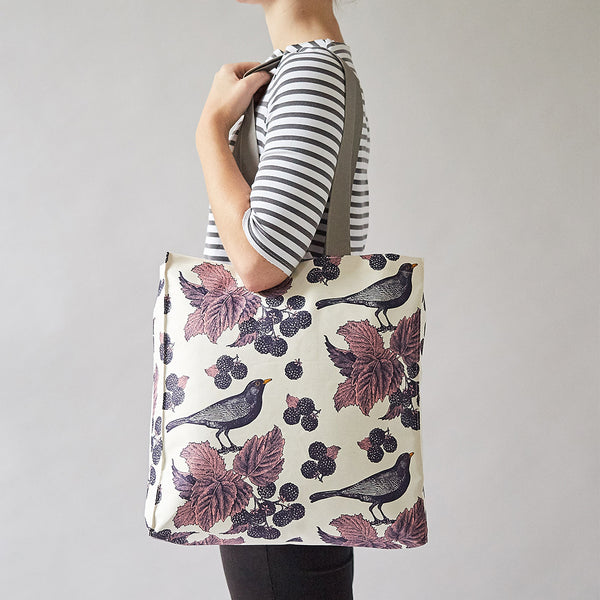 Blackbird & Bramble Tote Bag