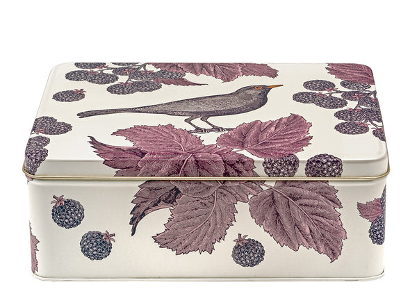 Blackbird & Bramble Rectangle Tin