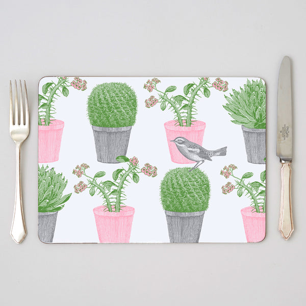 Cactus & Bird Placemat Set of Four