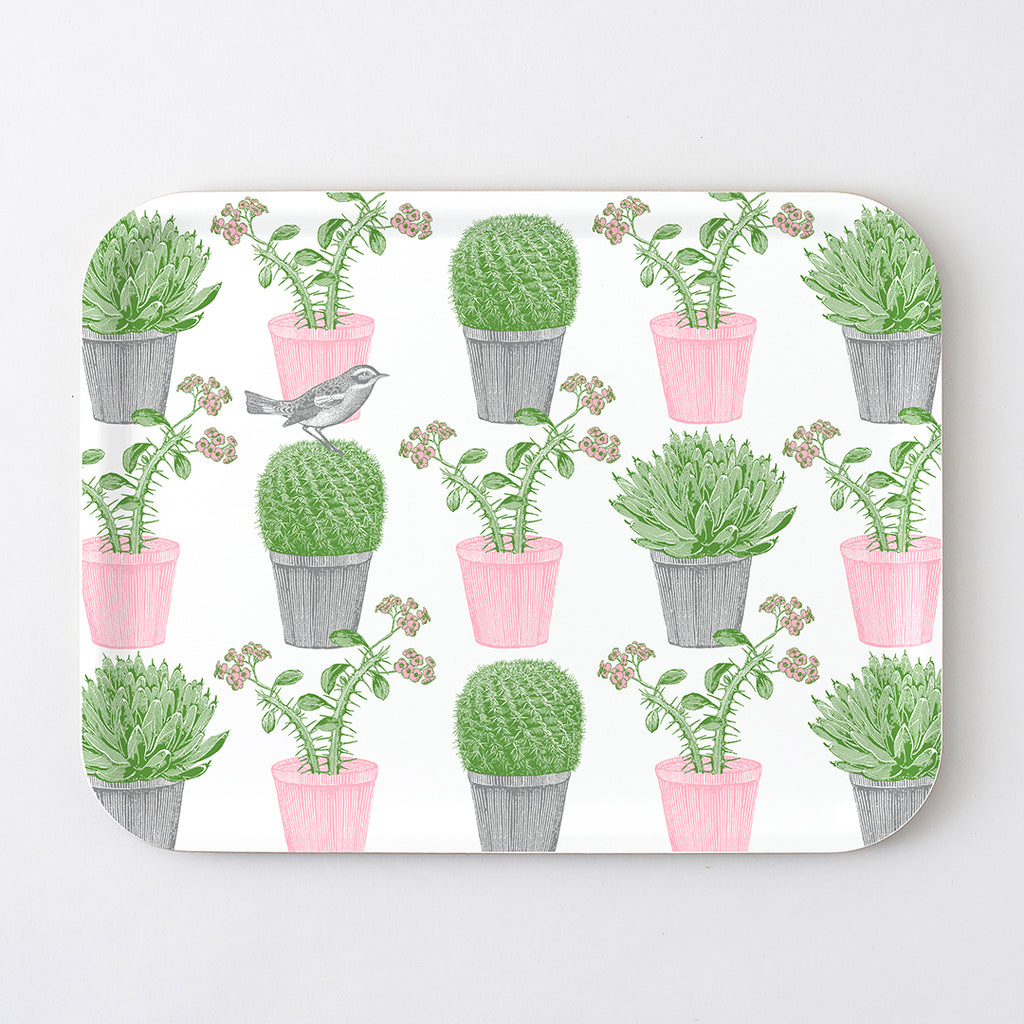 Cactus & Bird Large Tray