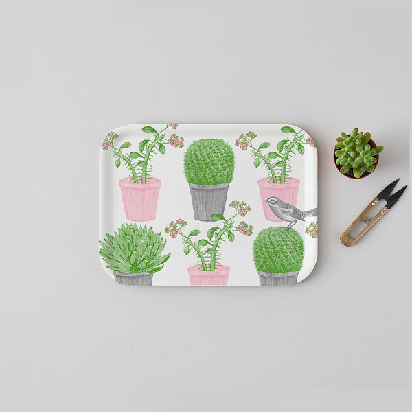 Cactus & Bird Small Tray