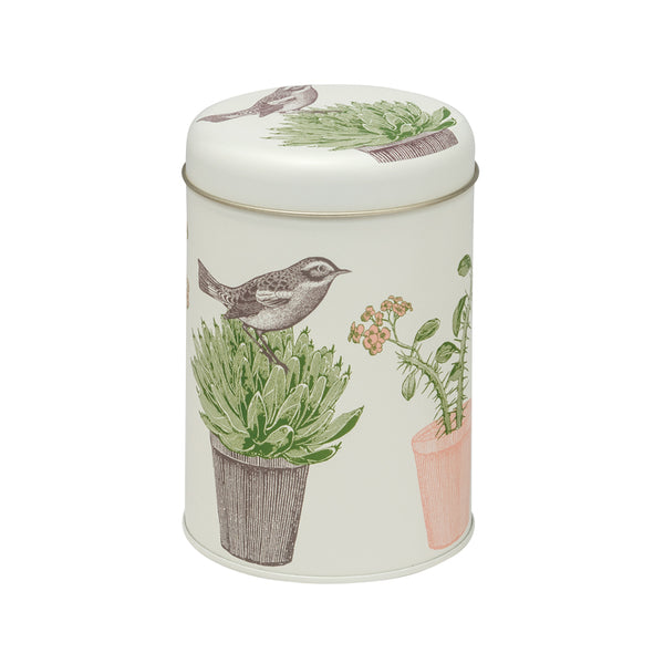 Cactus & Bird Caddy Tin