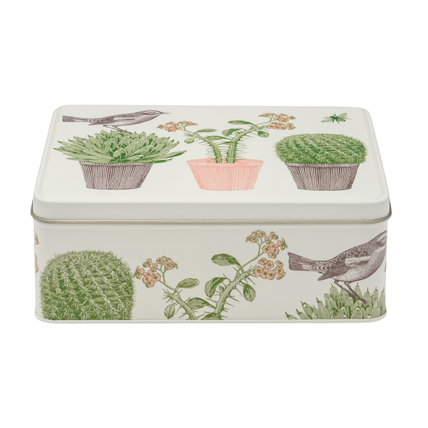 Cactus & Bird Rectangle Tin