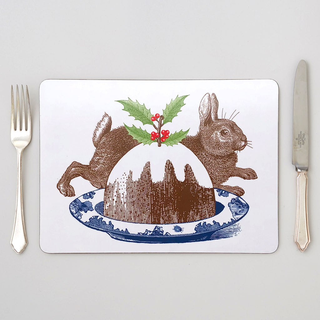 Christmas Pudding Placemat Set of Four
