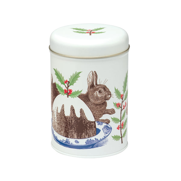Christmas Pudding Caddy Tin