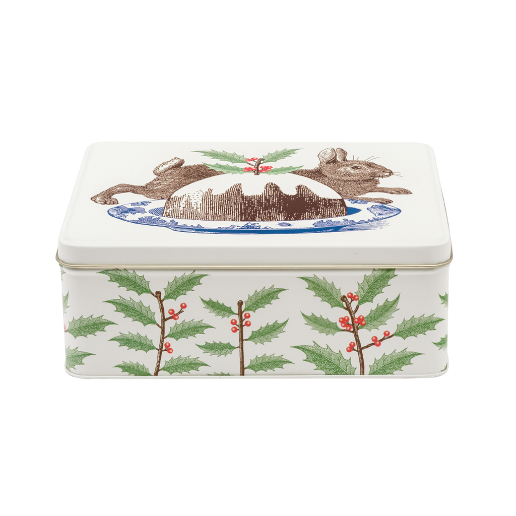 Christmas Pudding Rectangle tin