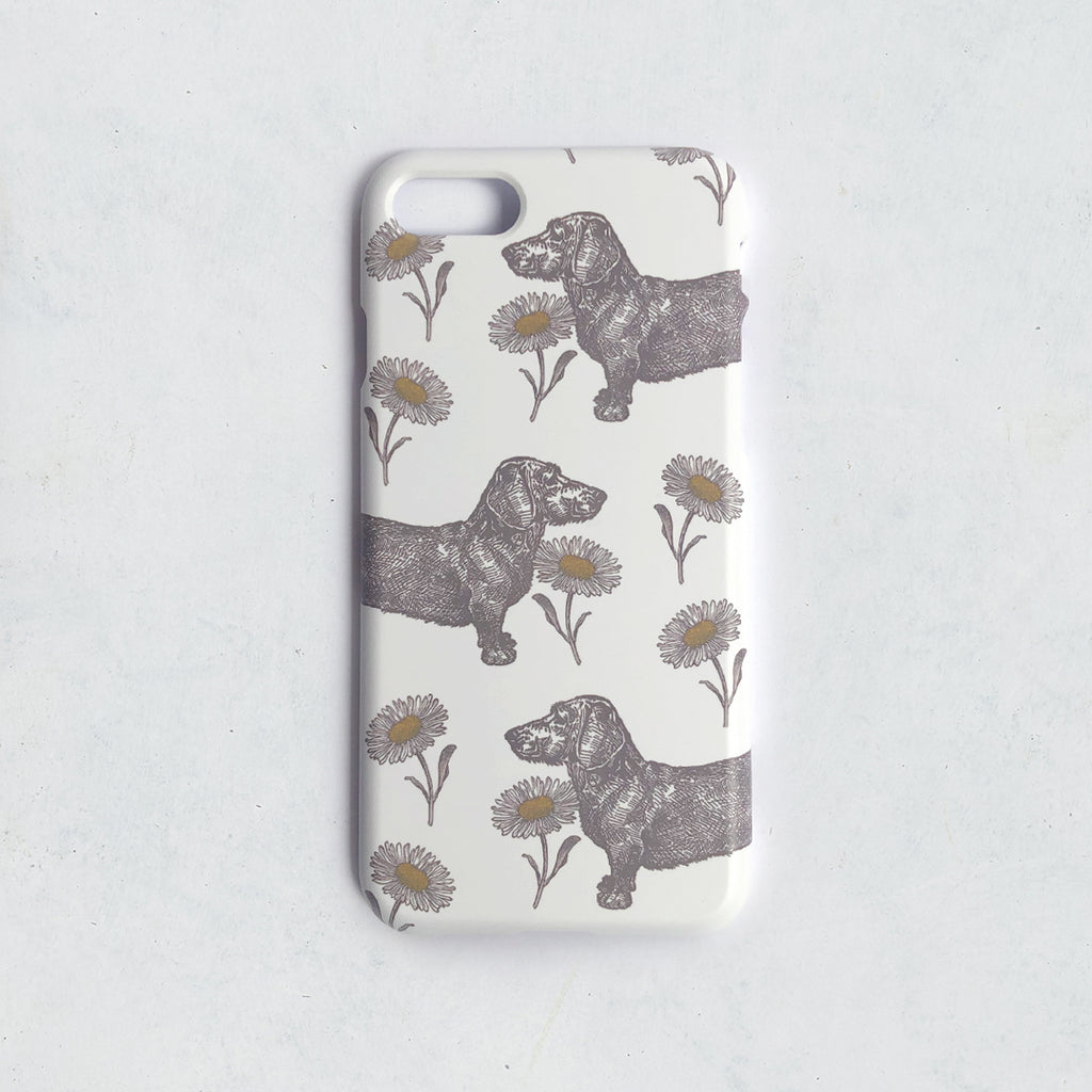 Dog & Daisy Phone Case