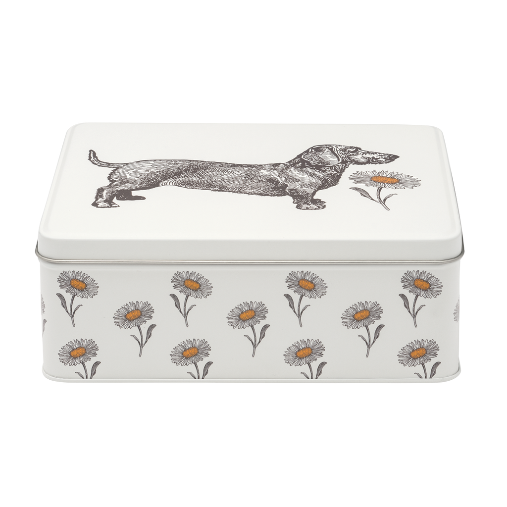 Dog & Daisy Rectangle Tin
