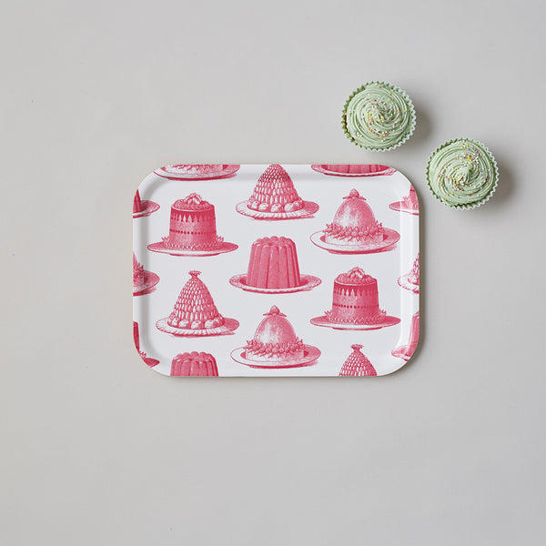 Pink Jelly & Cake Small Tray