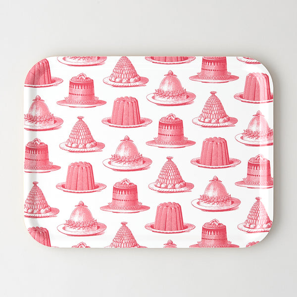 Pink Jelly & Cake Large Tray