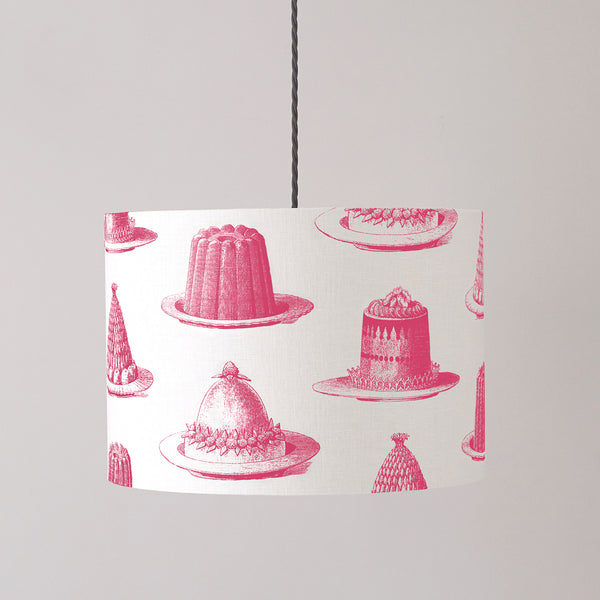 Raspberry Jelly & Cake Pendant Lampshade
