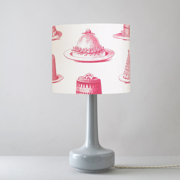 Raspberry Jelly & Cake Table Lampshade