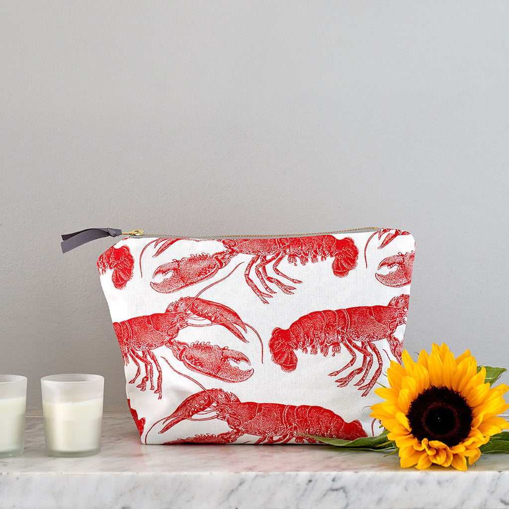 Lobster Large Cosmetic Bag