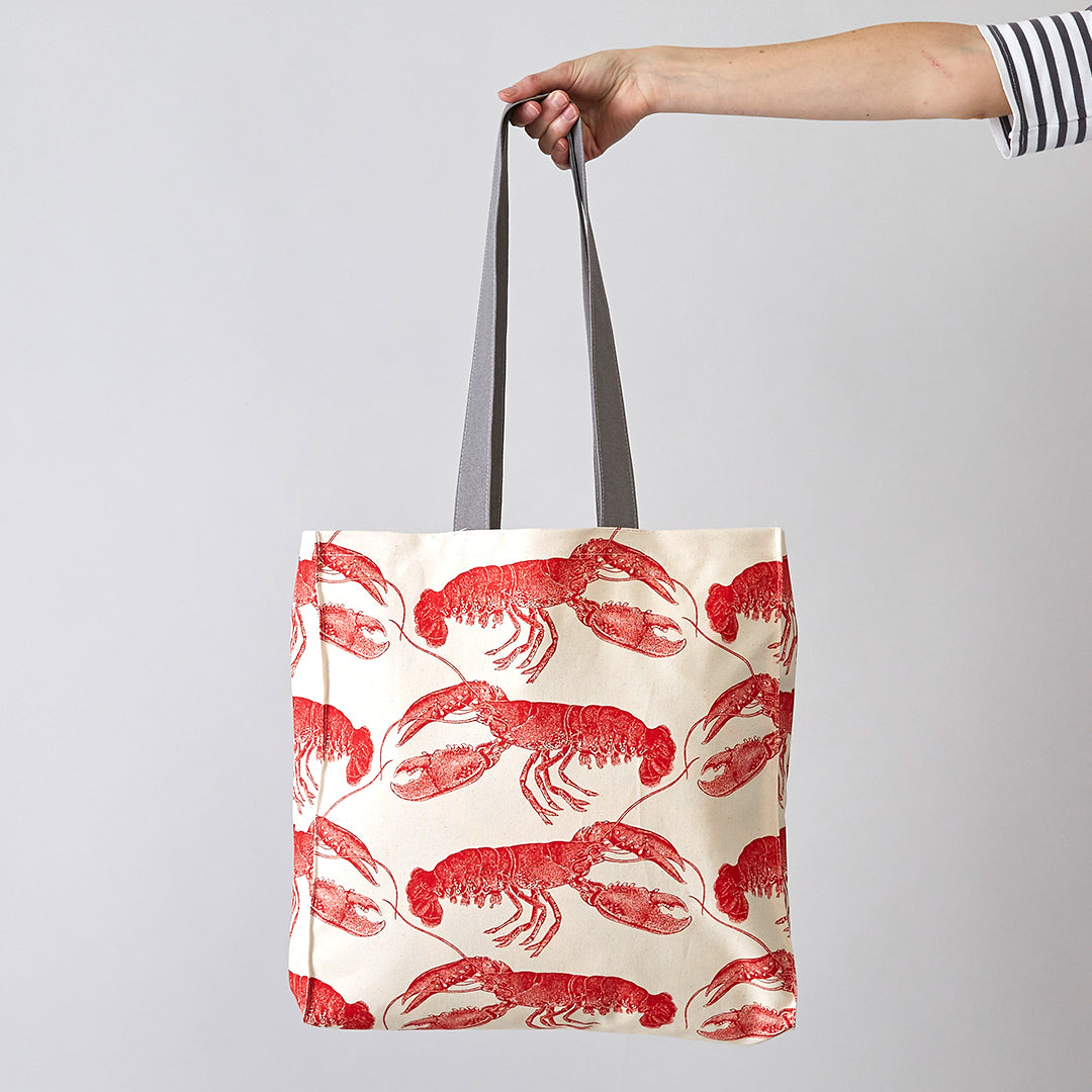 896e166189 Coral Lobster Tote Bag by Thornback   Peel