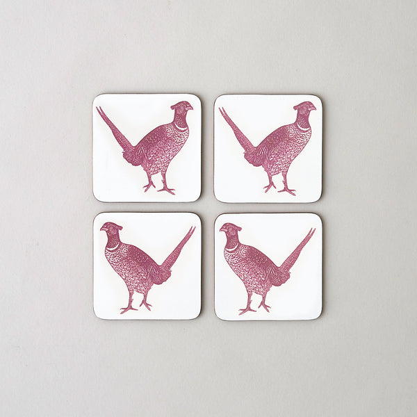 Pheasant & Vine Coaster set of Four