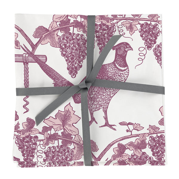 Pheasant & Vine Napkin set of Four