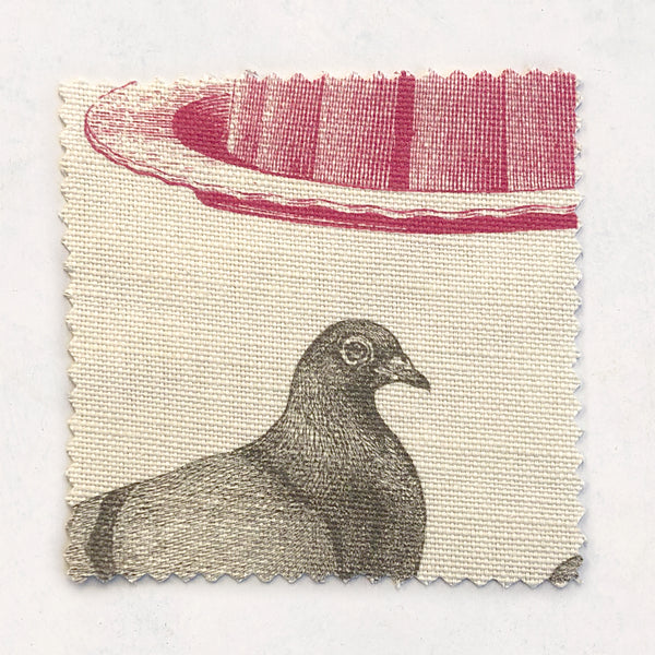 Pigeon & Jelly Fabric on Oyster Linen
