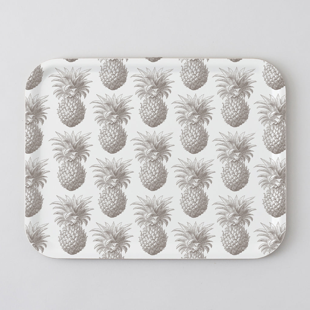 Grey Pineapple Large Tray