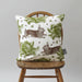Classic Rabbit & Cabbage Cushion on Oyster