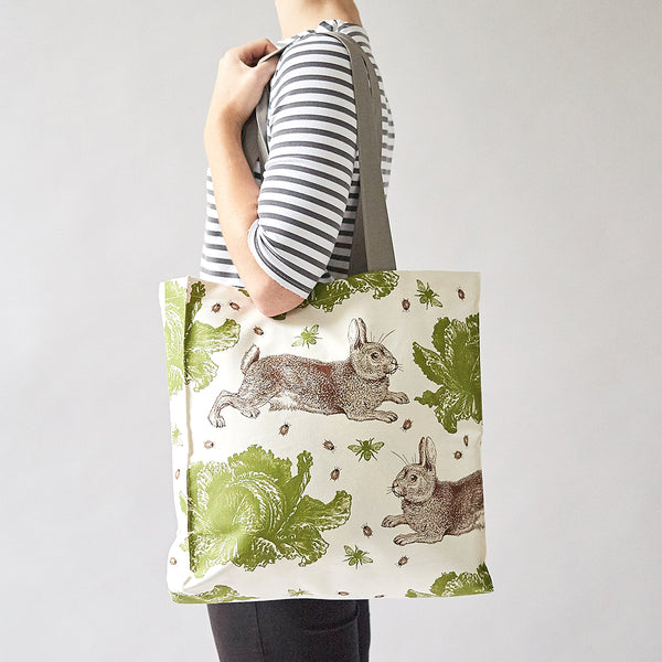 Classic Rabbit & Cabbage Tote Bag