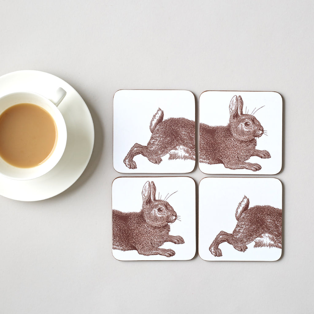 Classic Rabbit Coaster Set of Four