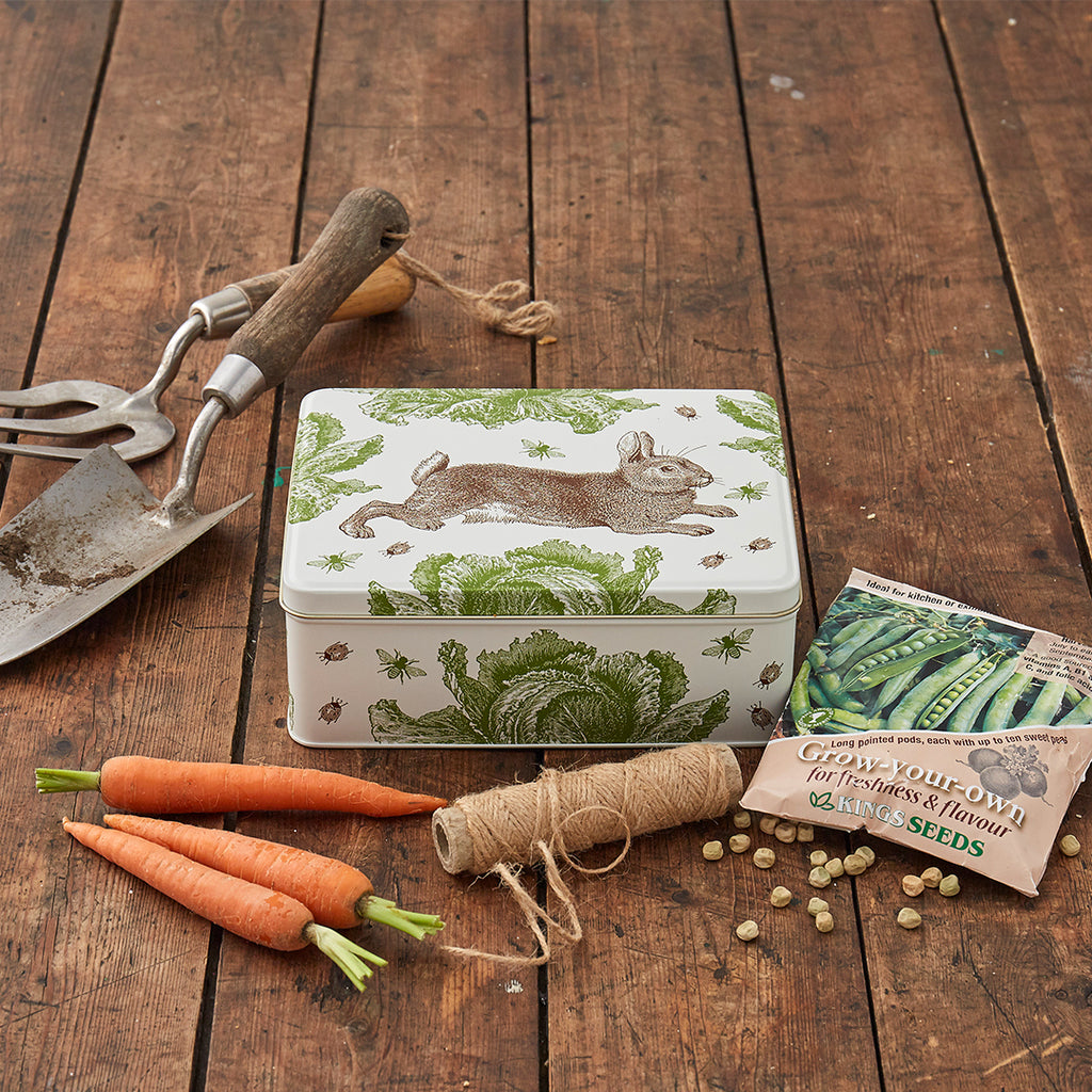 Rabbit & Cabbage Rectangle Tin