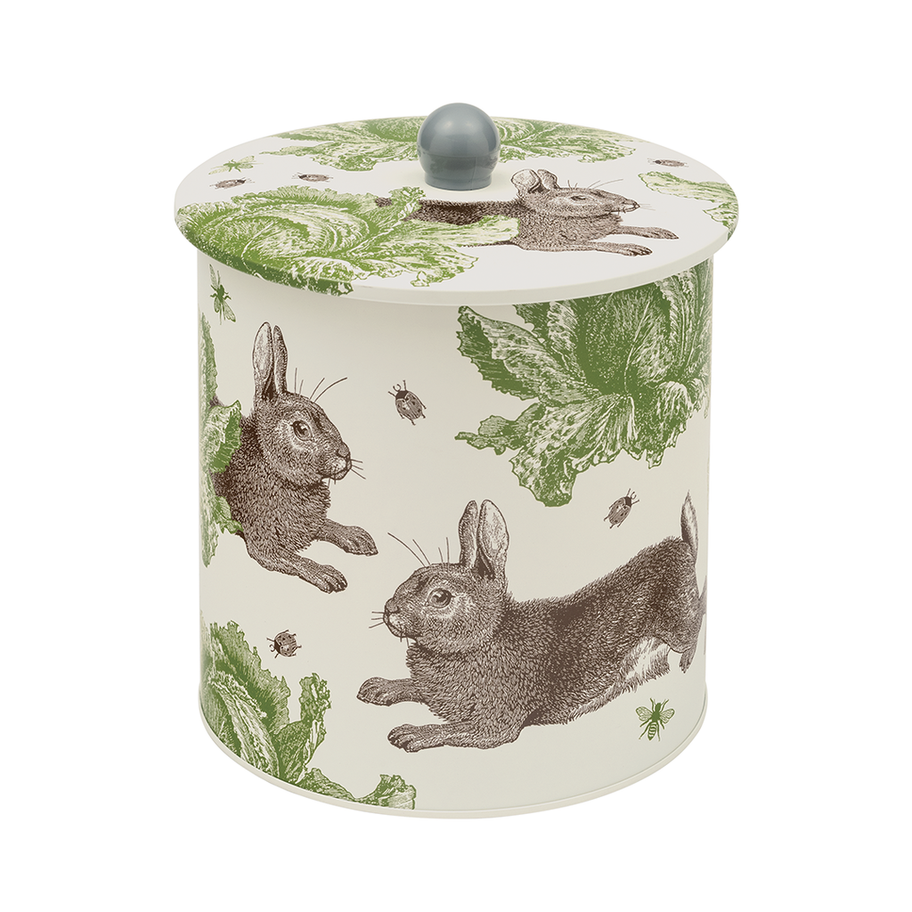 Rabbit & Cabbage Biscuit Barrel