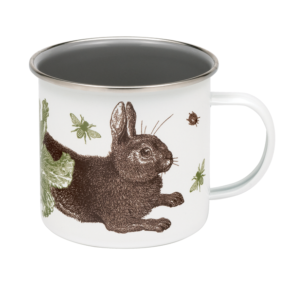 Rabbit & Cabbage Enamel Mug