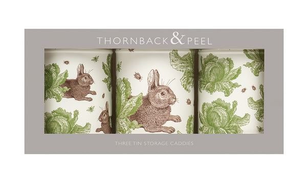 Rabbit & Cabbage Caddy Tin Set