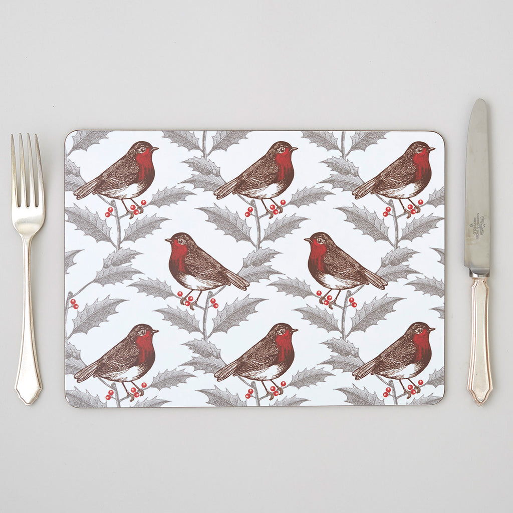 Robin & Holly Placemat Set of Four
