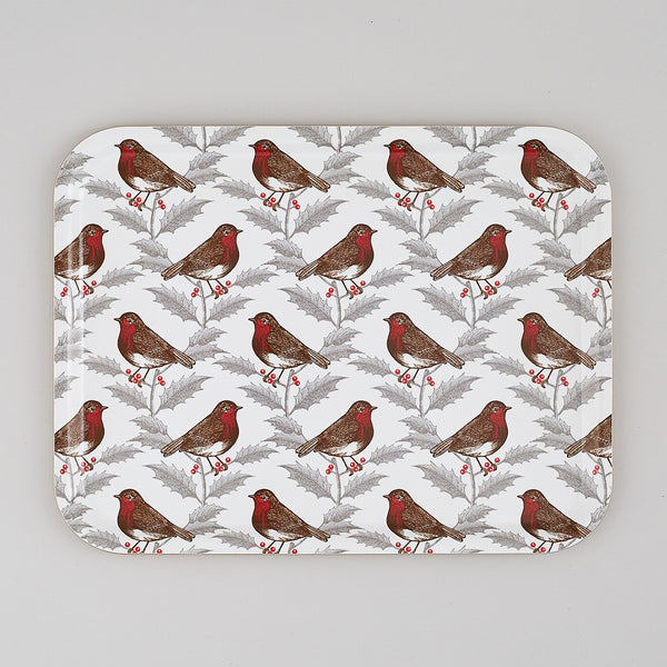 Robin & Holly Large Tray
