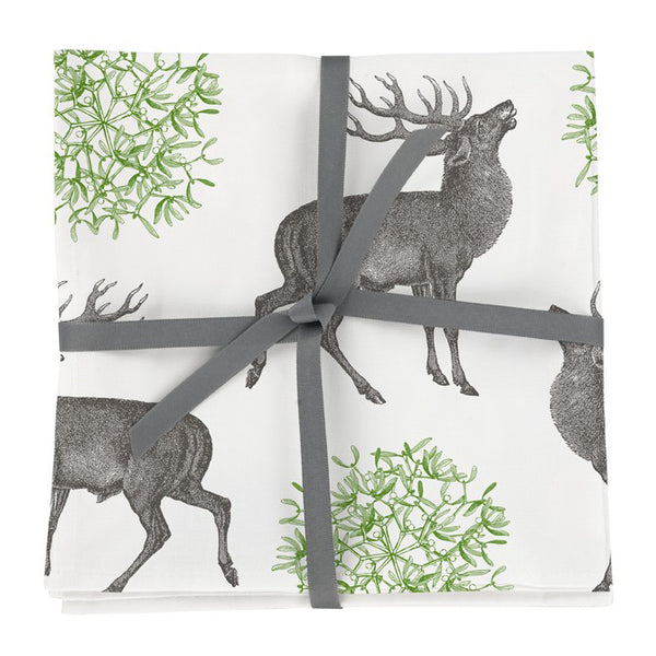 Stag & Mistletoe Napkin Set of Four