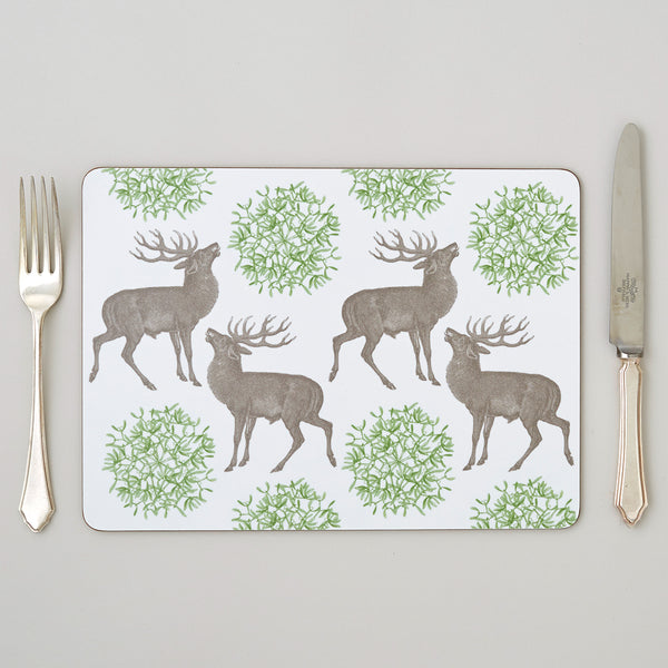 Stag & Mistletoe Placemat Set of Four