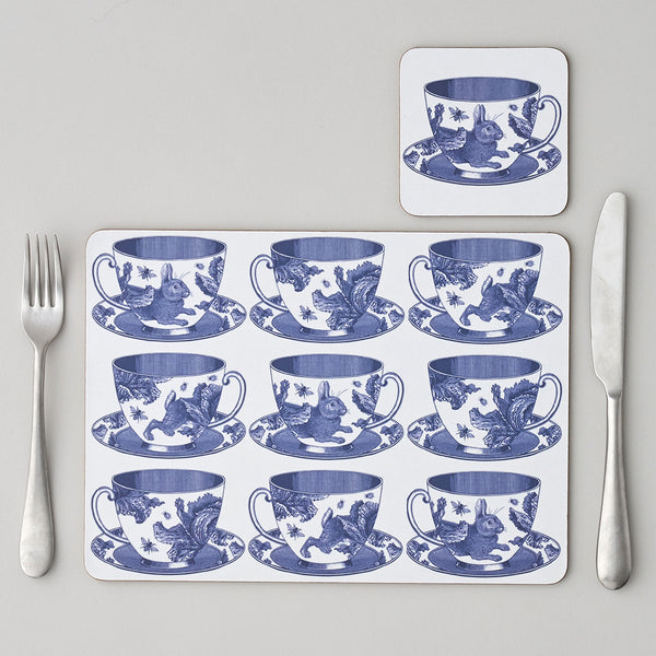 Teacup Placemat Set of Four