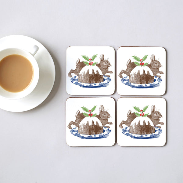 Christmas Pudding Coaster Set of Four