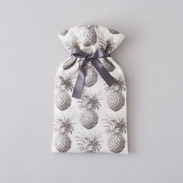 Grey Pineapple Hot Water Bottle