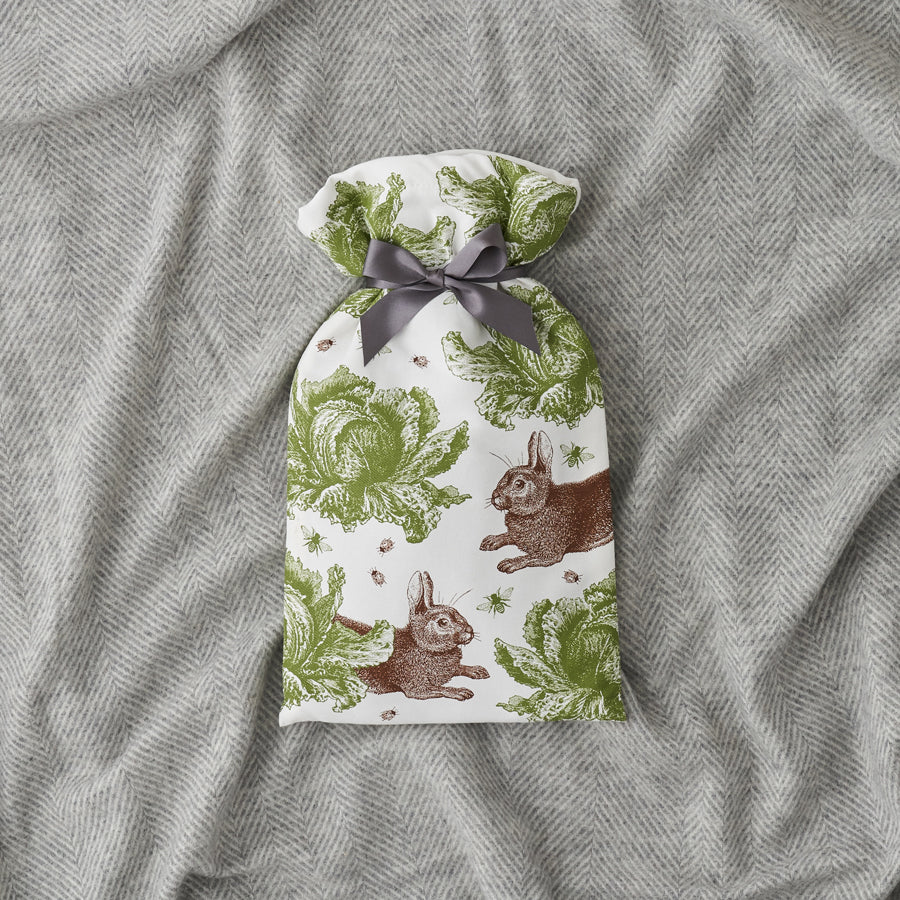 Rabbit & Cabbage Hot Water Bottle