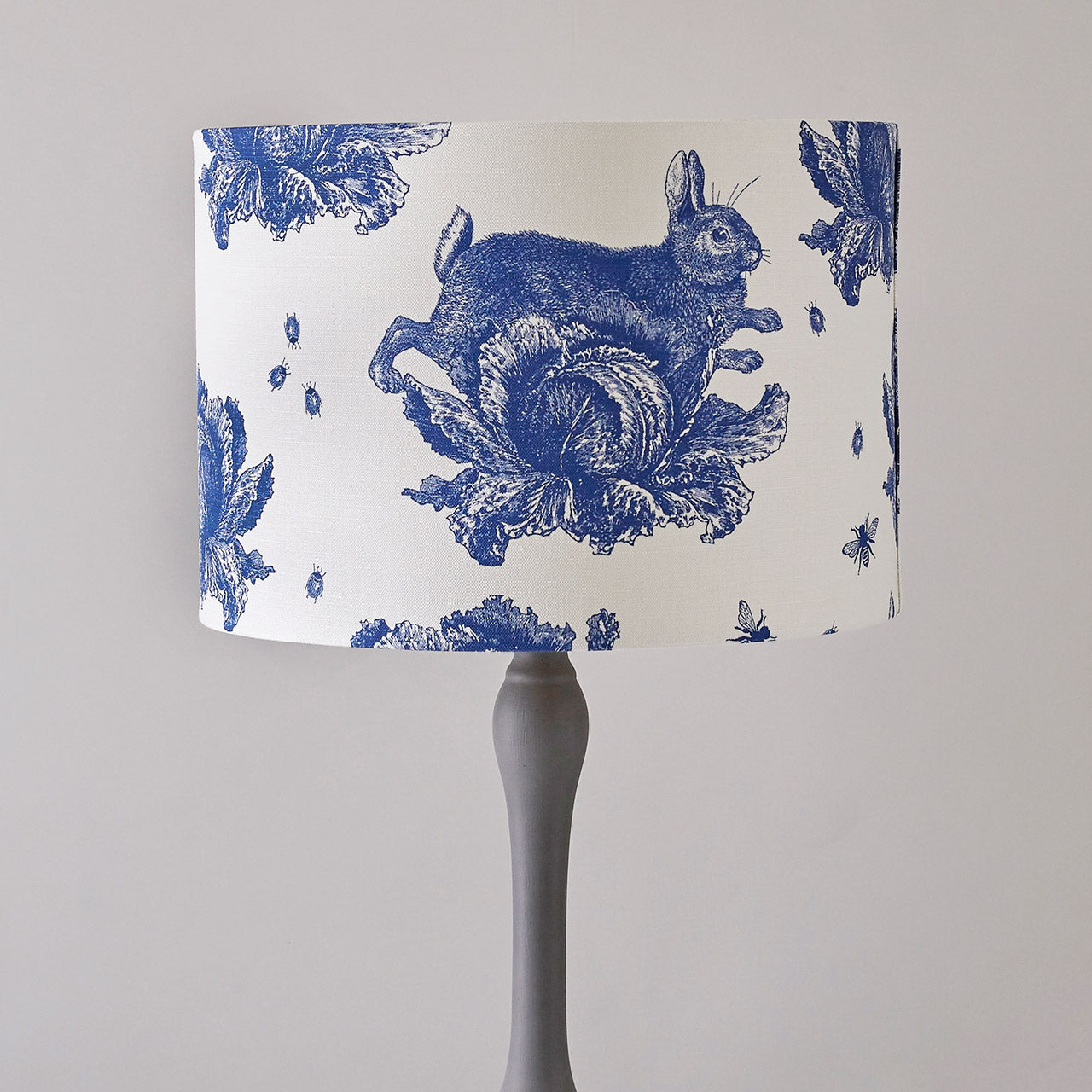 Delft Blue Rabbit Cabbage Floor Lampshade By Thornback Peel