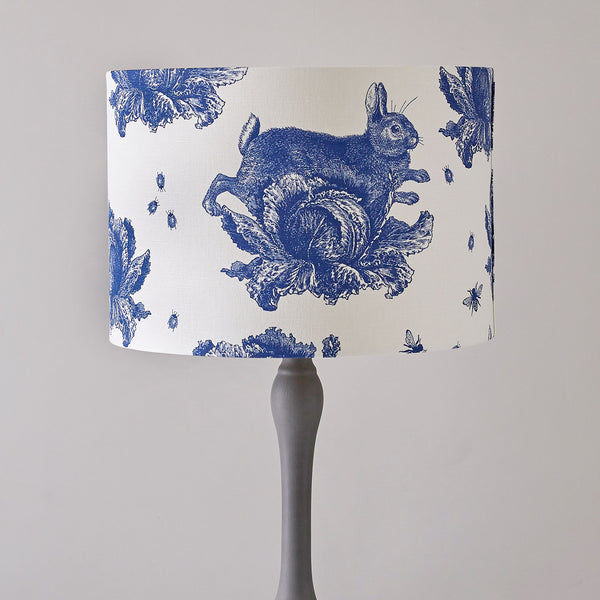 Delft Blue Rabbit & Cabbage Floor Lampshade