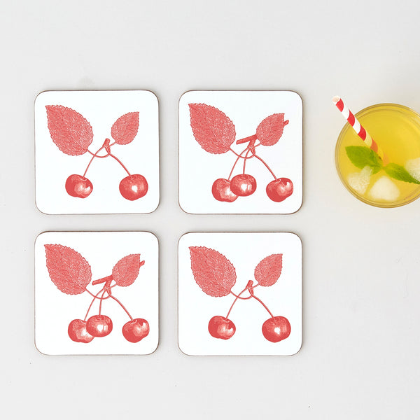 Cherry Coaster Set of Four